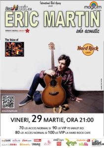 BESTMUSIC cu ERIC MARTIN (the voice of Mr.BIG) @ Hard Rock Cafe - solo acoustic - vineri, 29 martie, ora 21:00