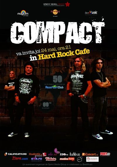 Concert COMPACT - HARD ROCK CAFE - 24 mai - orele 21:00 by SPRINT MEDIA GRUP