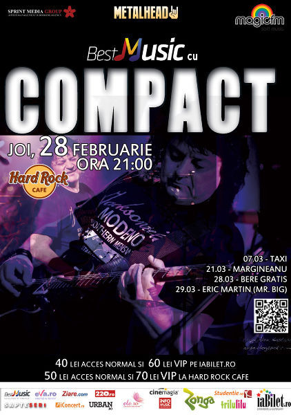 COMPACT - HARD ROCK CAFE 28 februarie