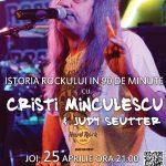 CRISTI MINCULESCU & JUDY SEUTTER - Istoria rockului in 90 de minute @ Hard rock Cafe