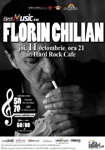 BestMusic cu Florin Chilian @ Hard Rock Cafe - concert organizat de Sprint Media cu sprijinul Hard Rock Cafe și Magic FM - joi, 11 octombrie, ora 21