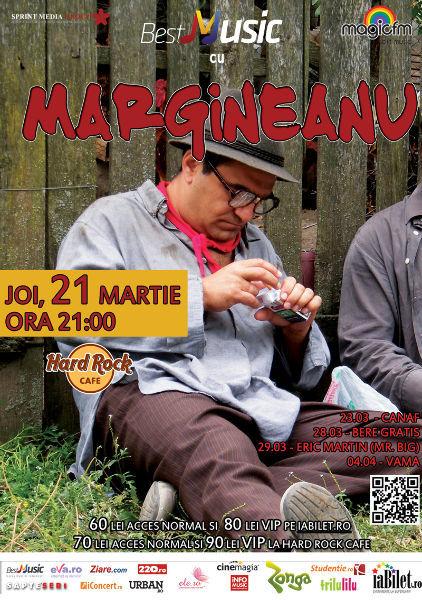 BestMusic cu Mihai Mărgineanu @ Hard Rock Cafe. Organizator: Sprint Media - 21 martie, orele 21.00